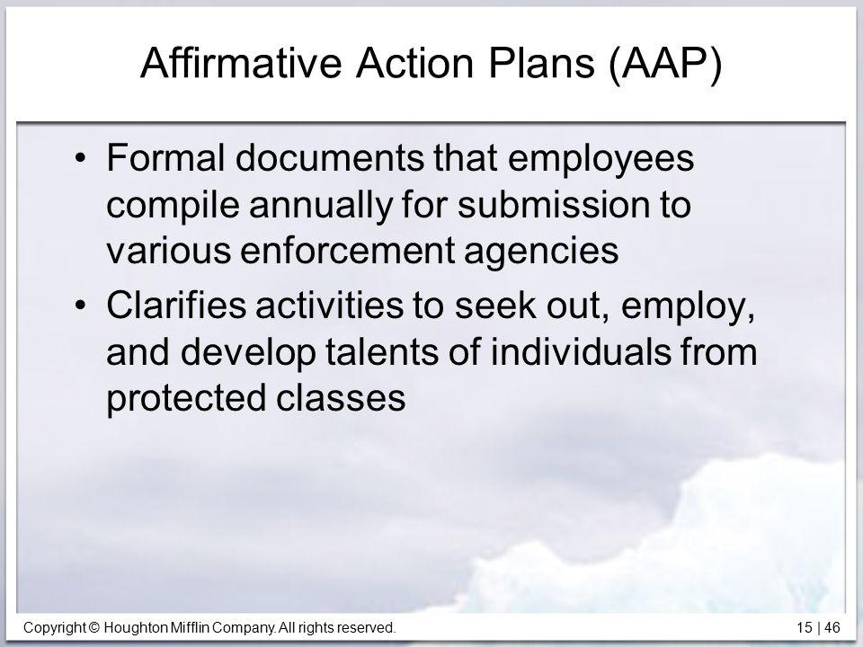 Affirmative Action Plans (AAP)