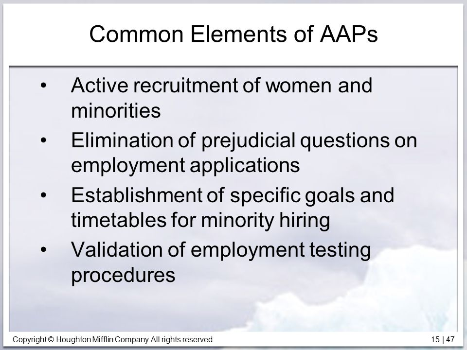 Common Elements of AAPs