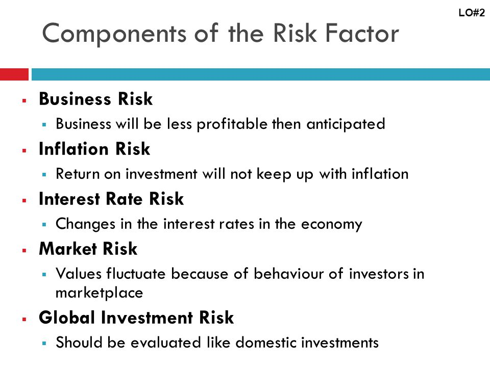 Components of the Risk Factor