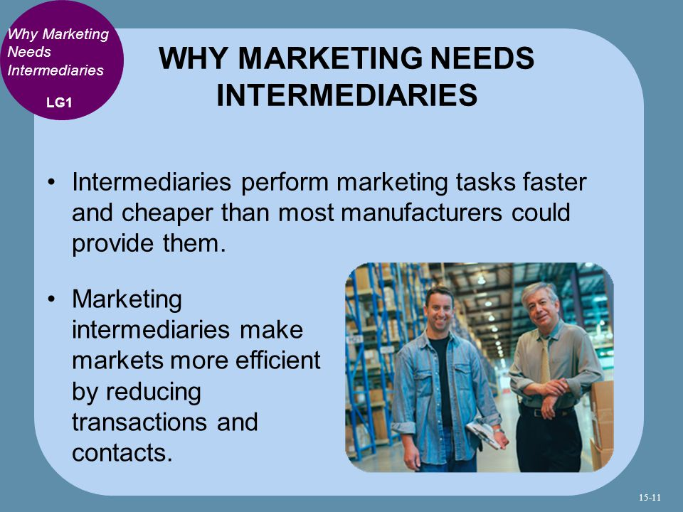 WHY MARKETING NEEDS INTERMEDIARIES