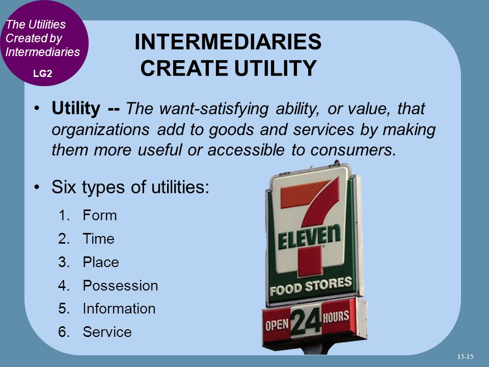 INTERMEDIARIES CREATE UTILITY
