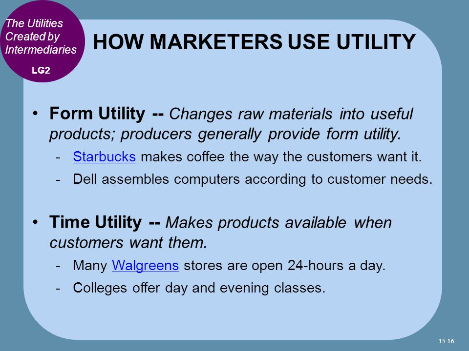 HOW MARKETERS USE UTILITY