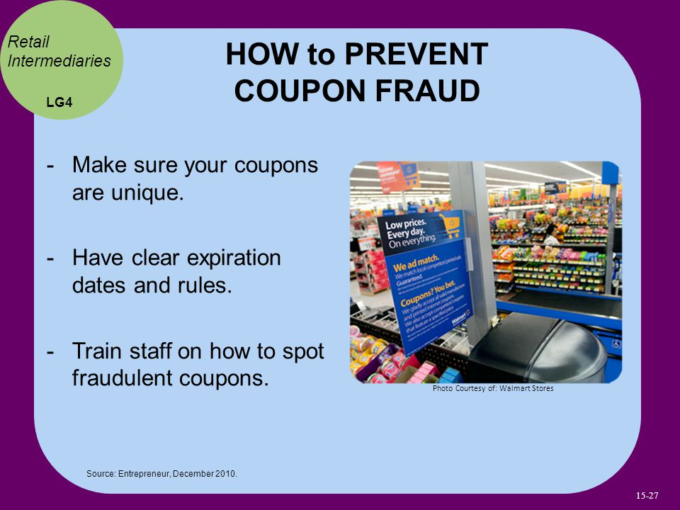 HOW to PREVENT COUPON FRAUD