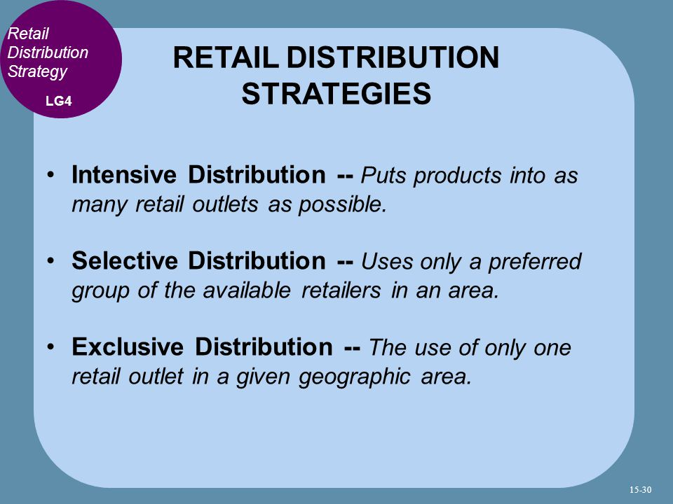 RETAIL DISTRIBUTION STRATEGIES