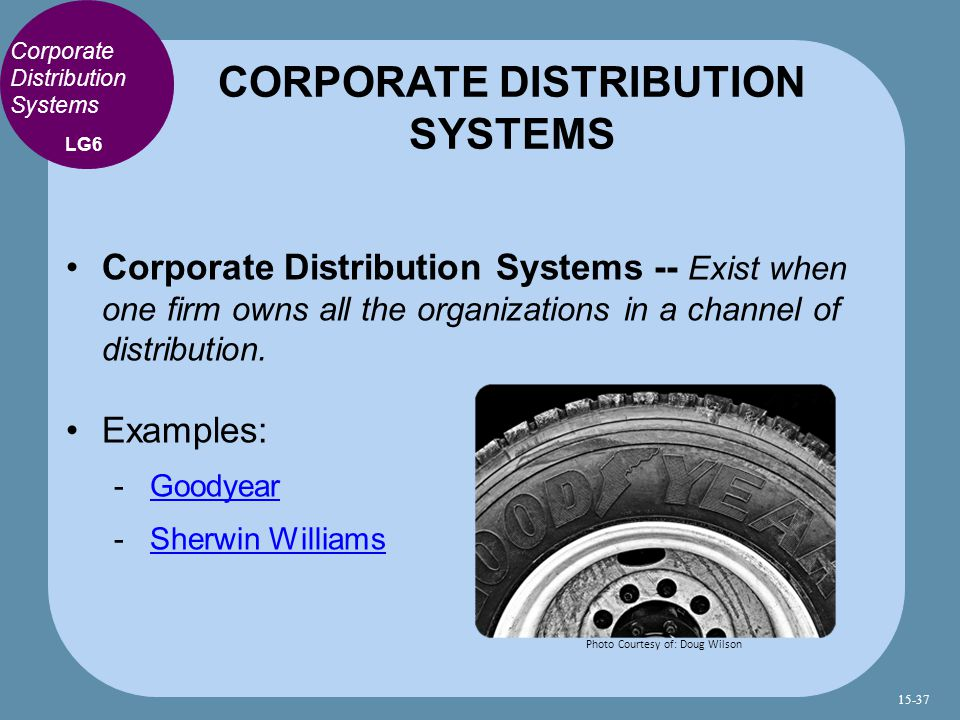 CORPORATE DISTRIBUTION SYSTEMS