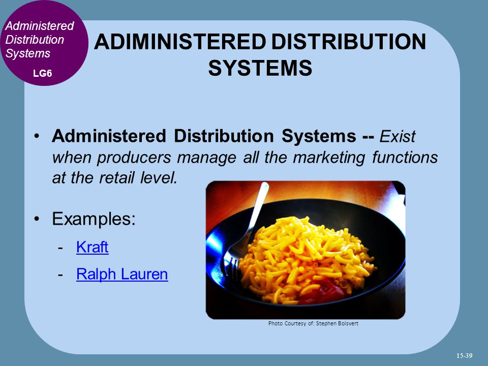 ADIMINISTERED DISTRIBUTION SYSTEMS