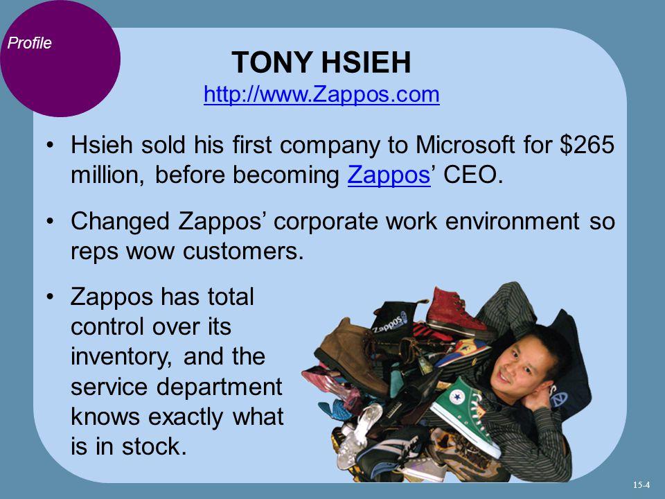 TONY HSIEH http://www.Zappos.com