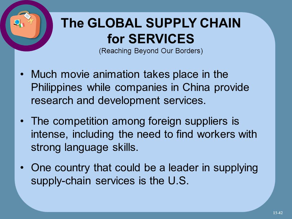 The GLOBAL SUPPLY CHAIN for SERVICES (Reaching Beyond Our Borders)