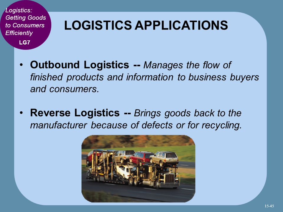 LOGISTICS APPLICATIONS