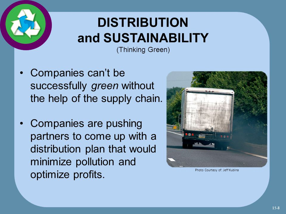DISTRIBUTION and SUSTAINABILITY (Thinking Green)