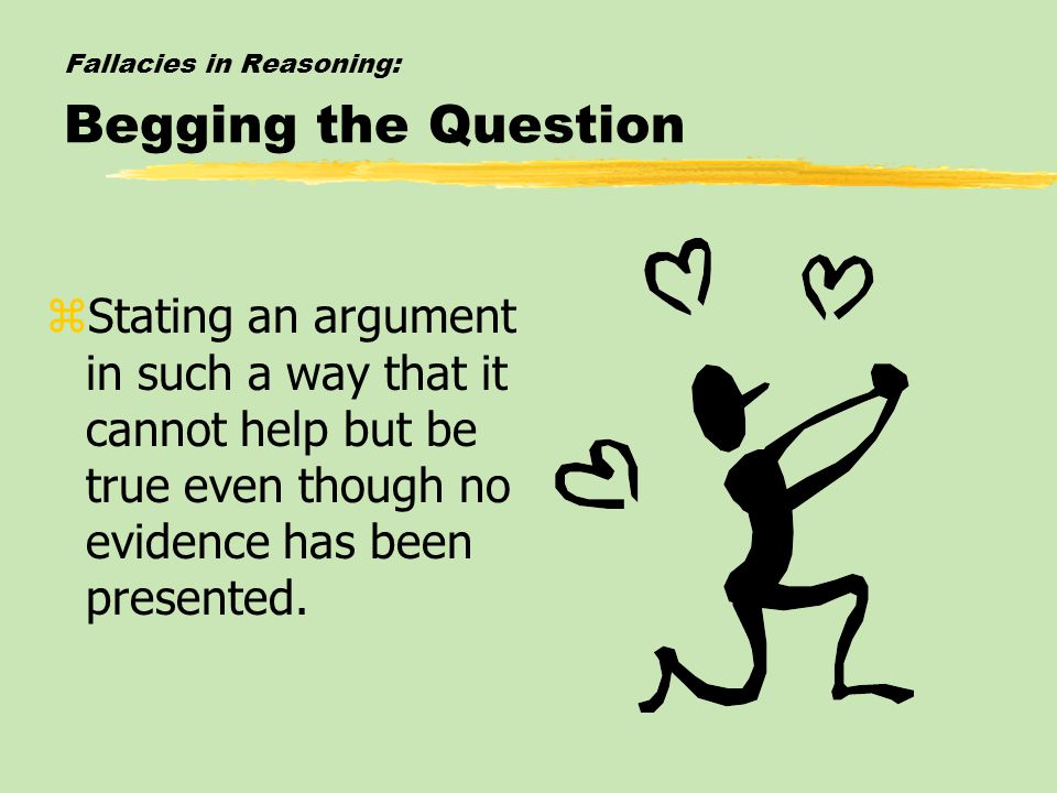 Fallacies in Reasoning: Begging the Question