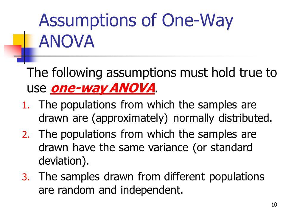 Assumptions of One-Way ANOVA