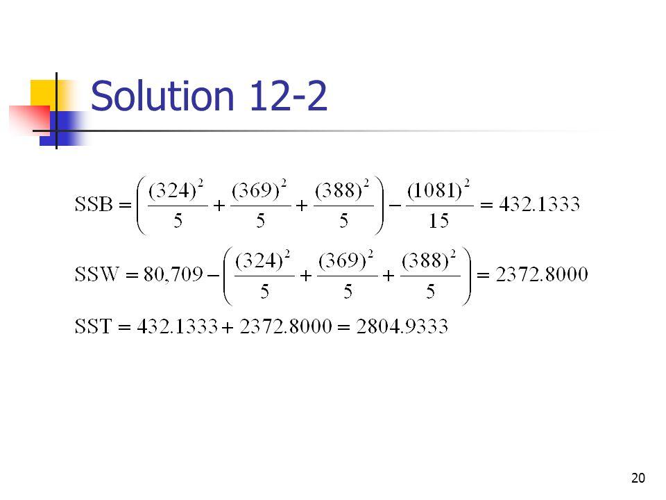 Solution 12-2