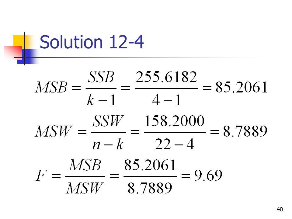 Solution 12-4