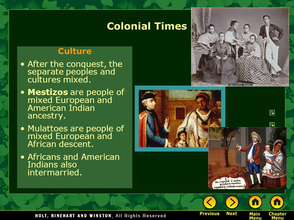 Colonial Times Culture