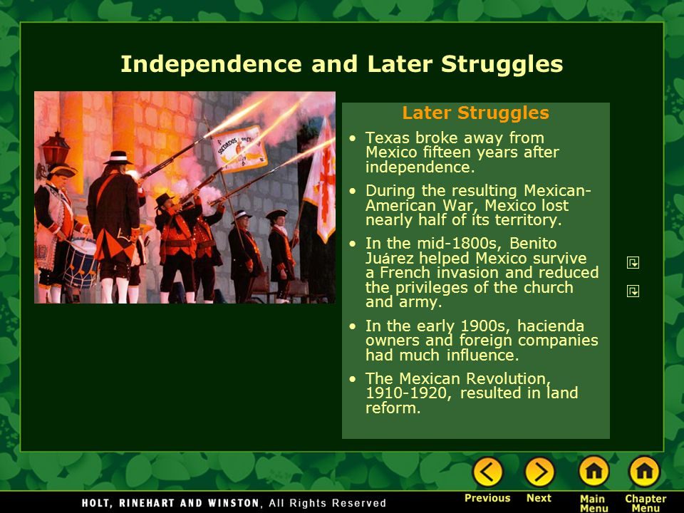 Independence and Later Struggles