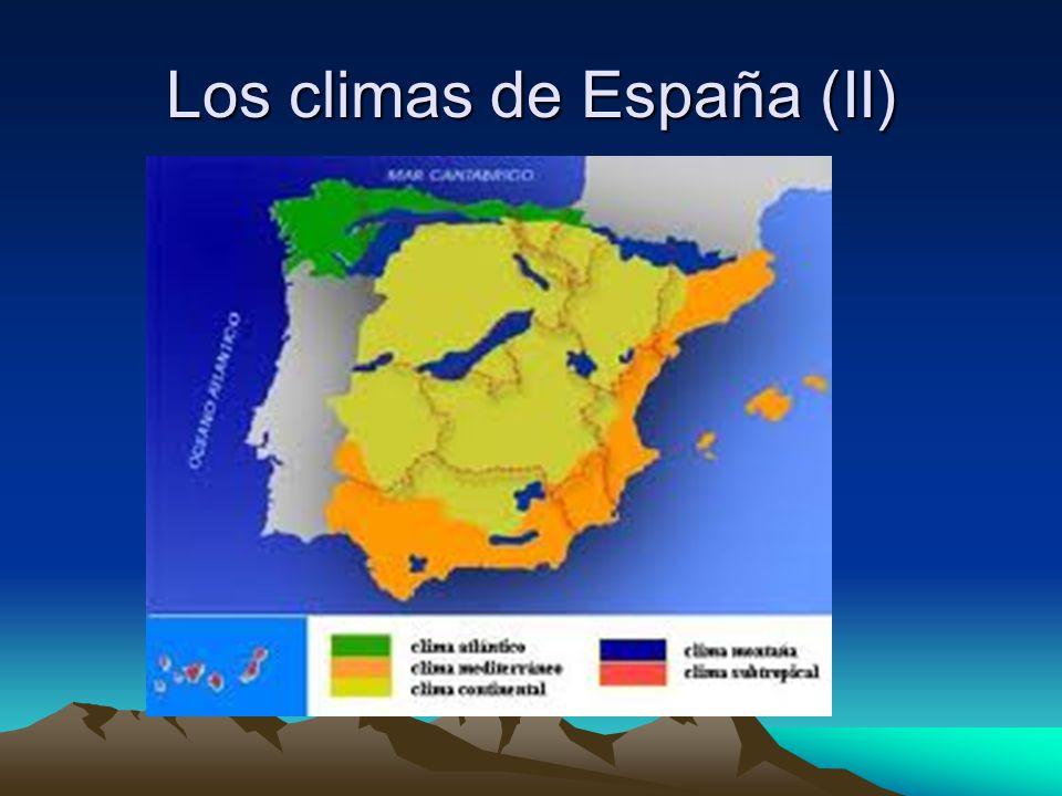 Los climas de España (II)