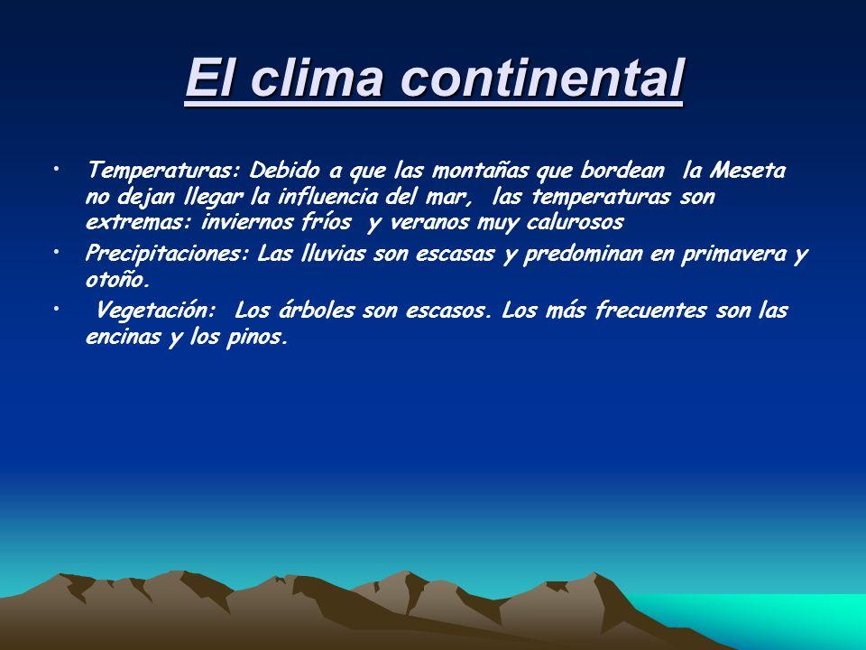 El clima continental