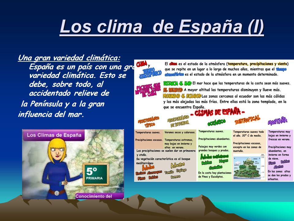 Los clima de España (I)