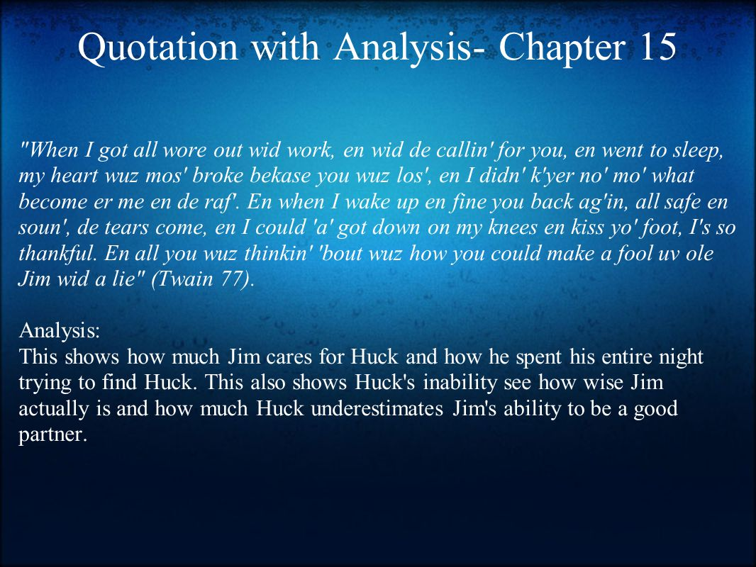 Quotation with Analysis- Chapter 15