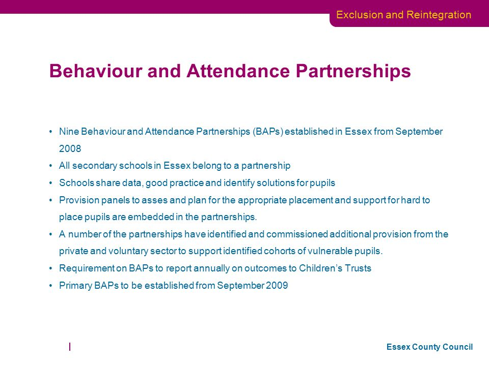 Behaviour and Attendance Partnerships