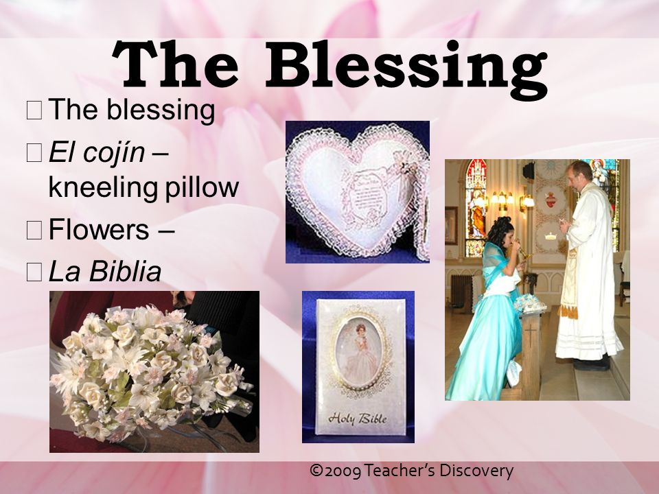 The Blessing The blessing El cojín – kneeling pillow Flowers –