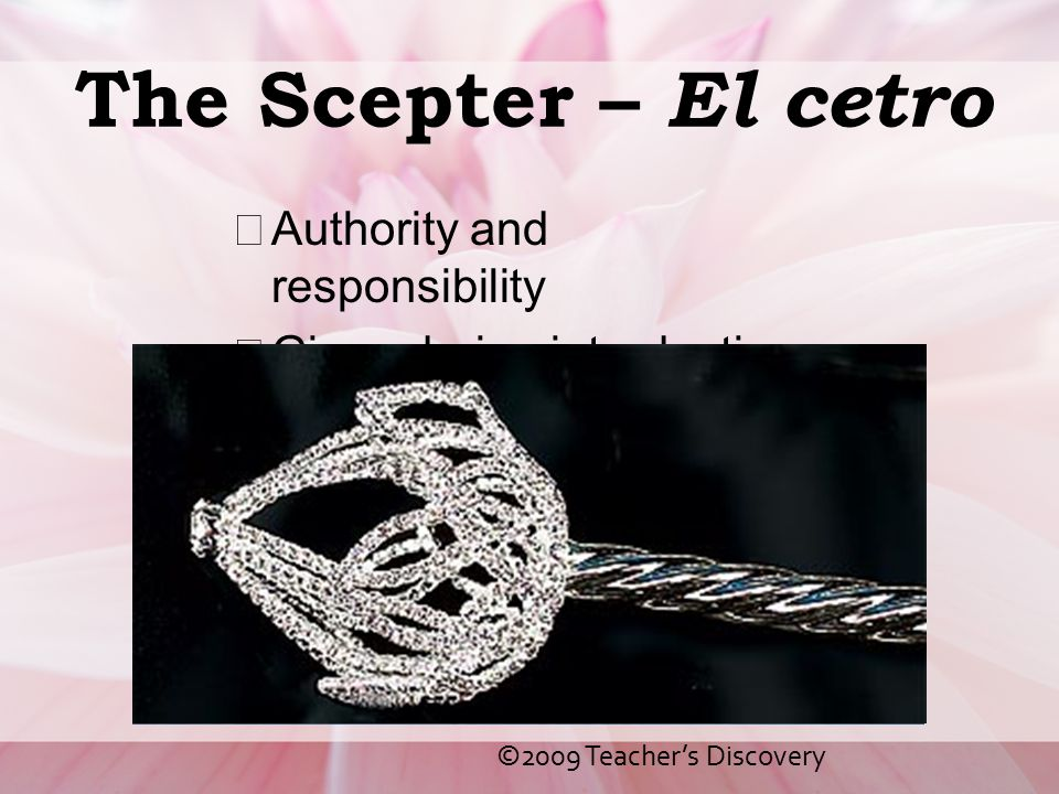 The Scepter – El cetro Authority and responsibility