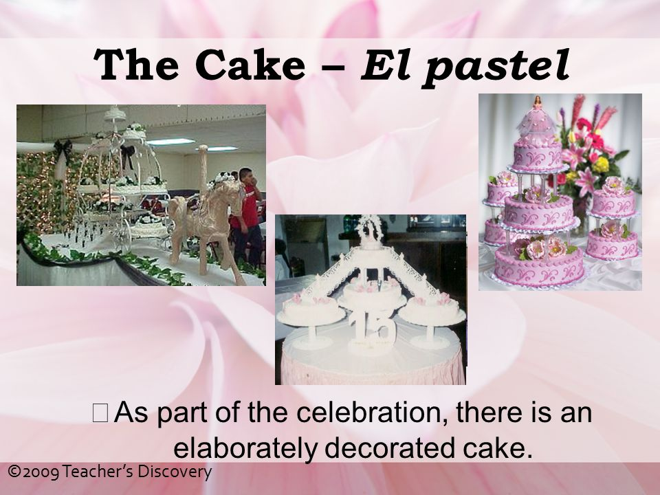 As part of the celebration, there is an elaborately decorated cake.