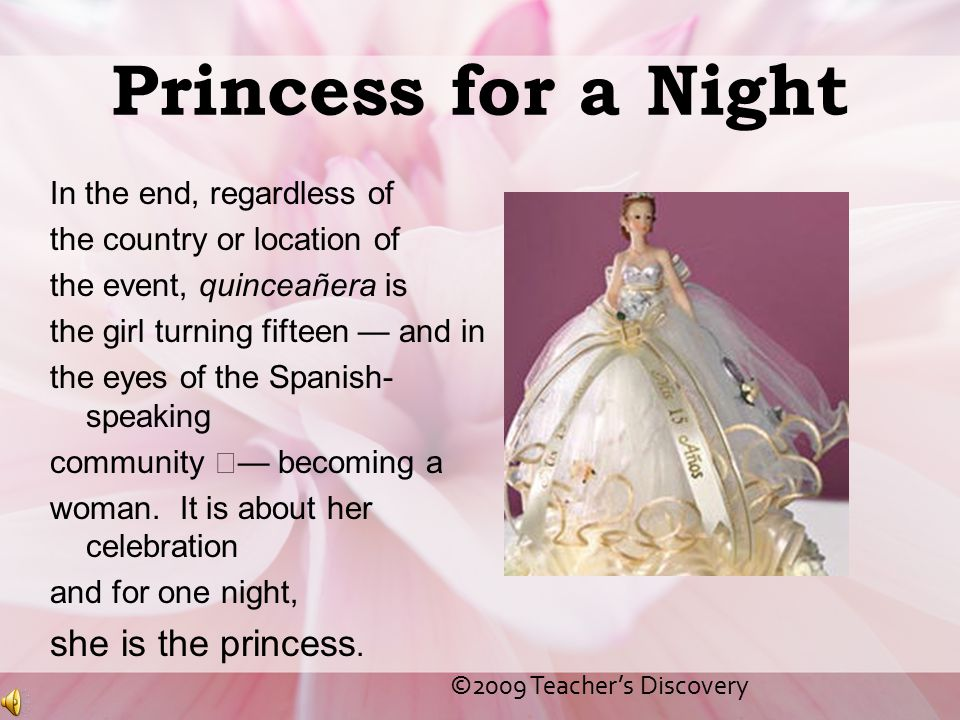 Princess for a Night she is the princess. In the end, regardless of