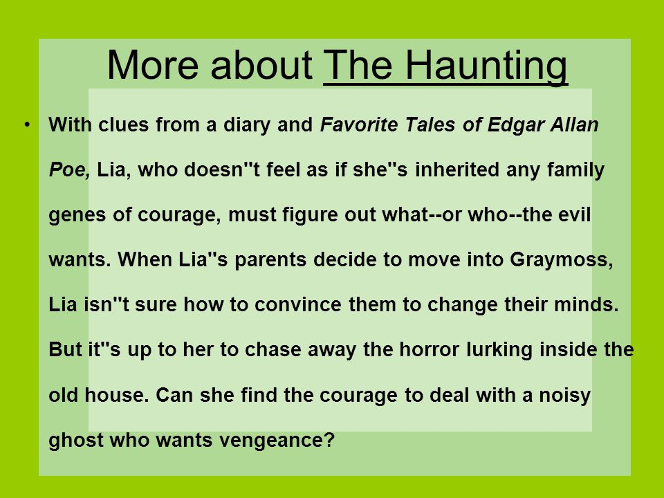 More about The Haunting
