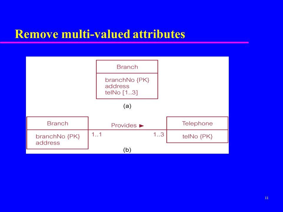 Remove multi-valued attributes