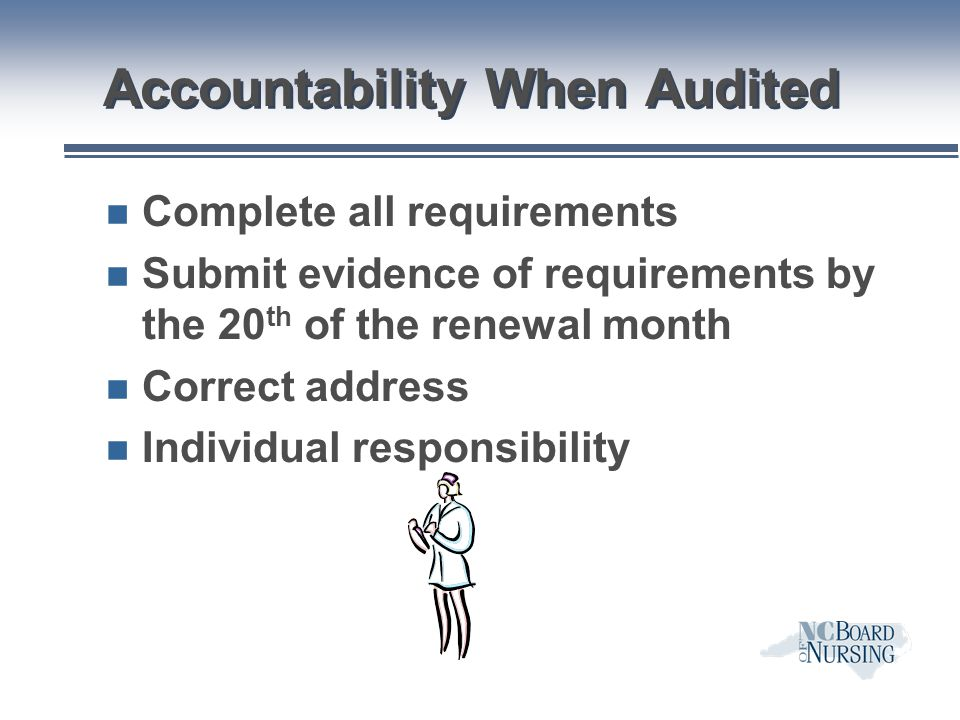 Accountability When Audited