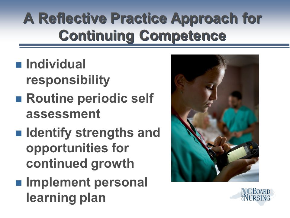 A Reflective Practice Approach for Continuing Competence