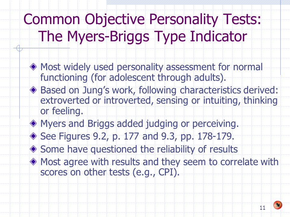 Common Objective Personality Tests: The Myers-Briggs Type Indicator