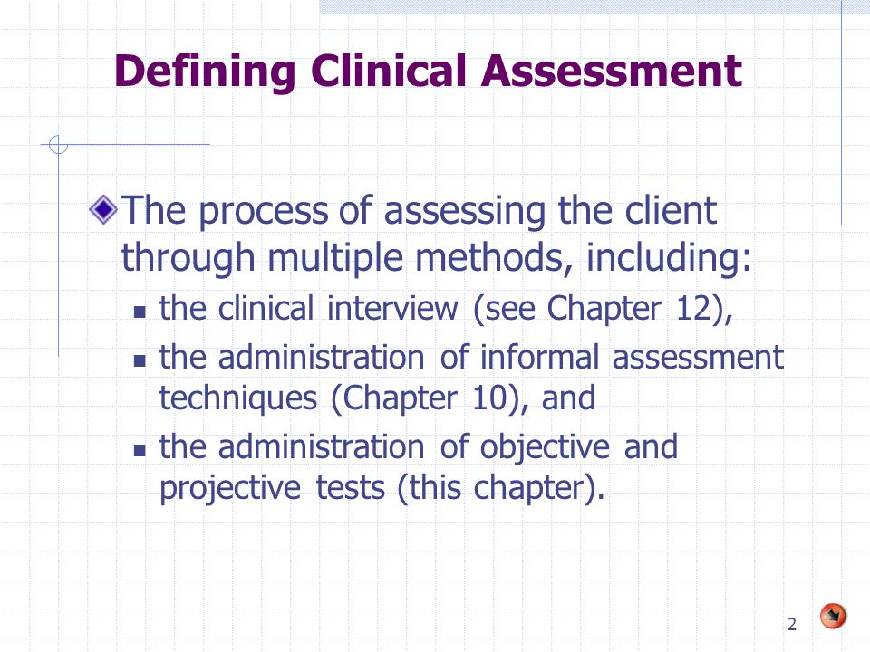 Defining Clinical Assessment