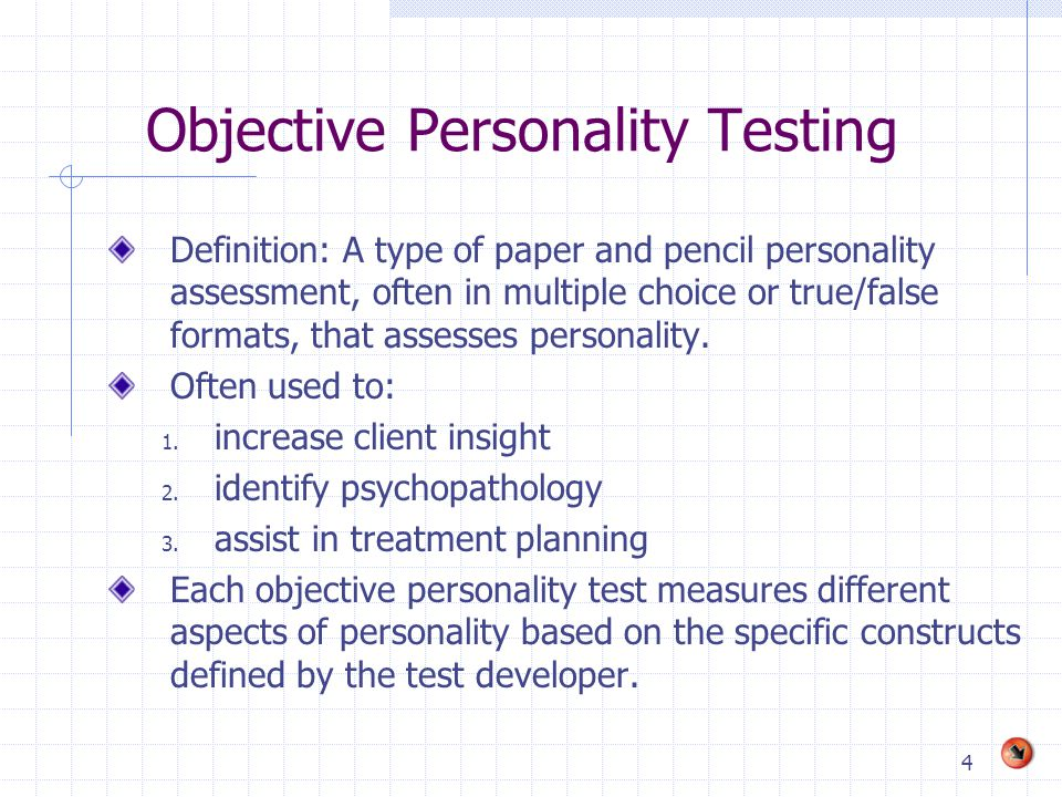 Objective Personality Testing