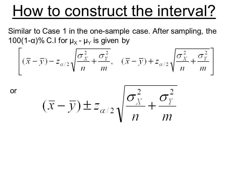 How to construct the interval