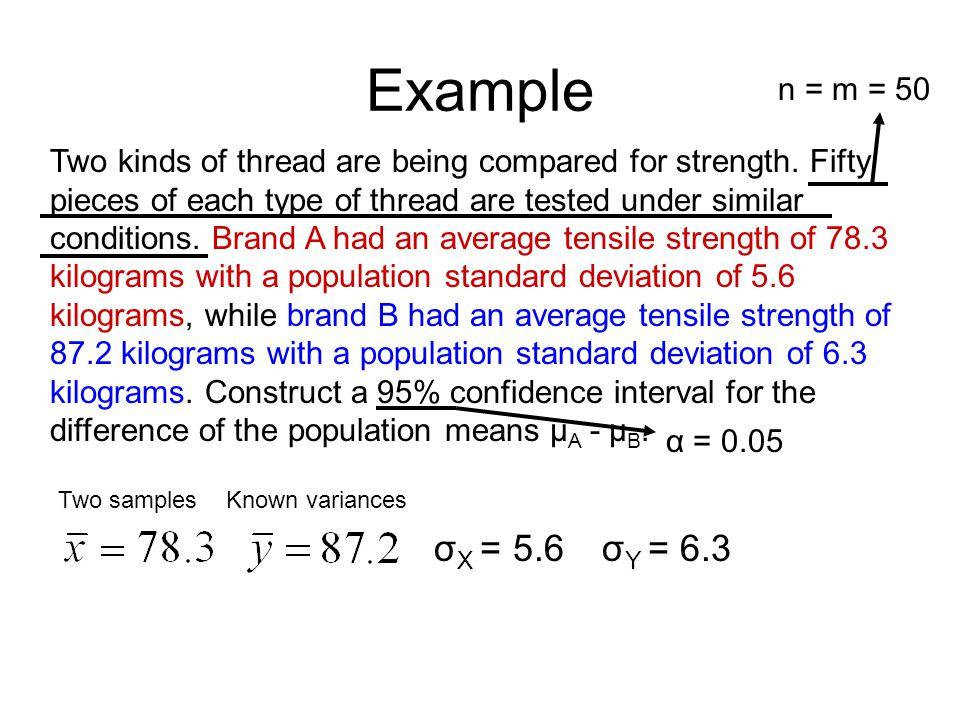 Example n = m = 50.