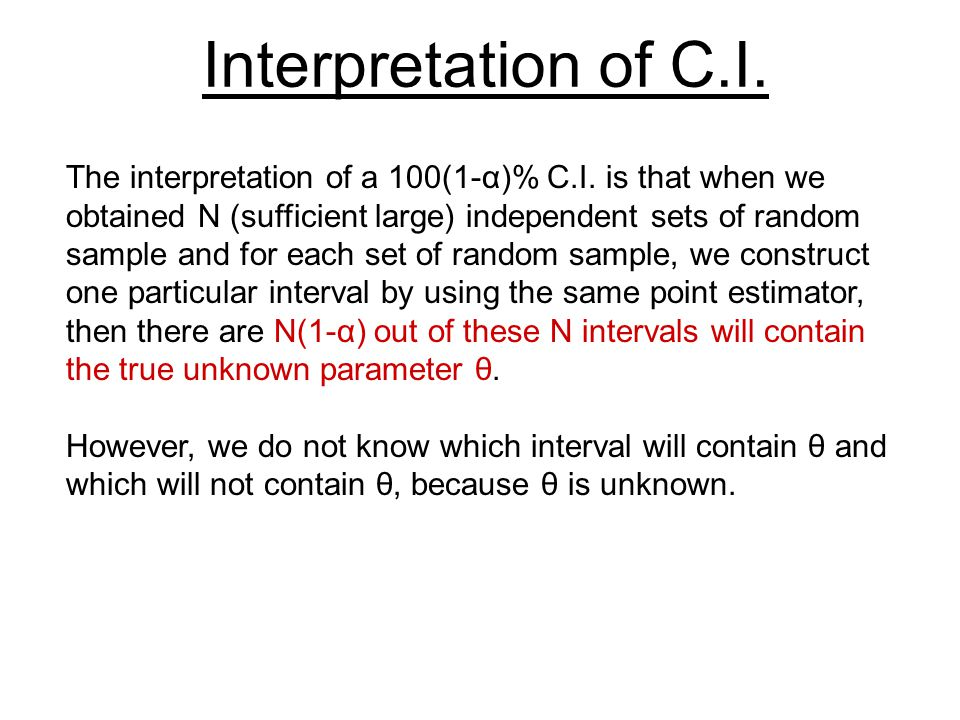 Interpretation of C.I.