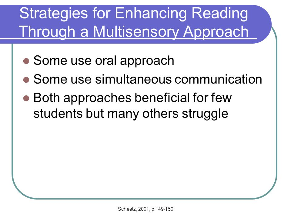 Strategies for Enhancing Reading Through a Multisensory Approach