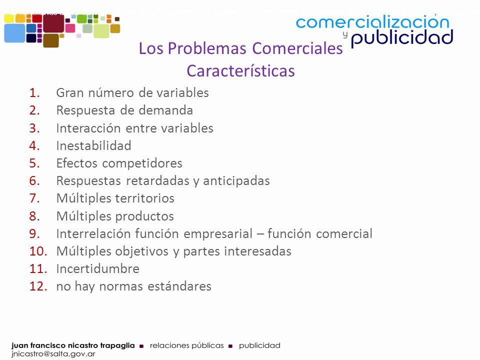 Los Problemas Comerciales Características