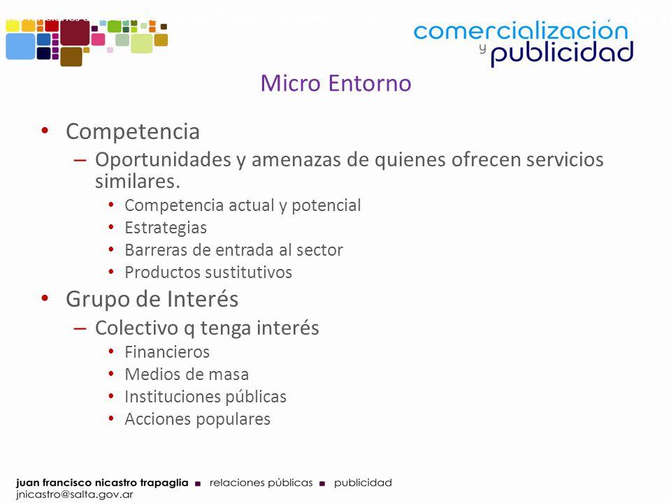 Micro Entorno Competencia Grupo de Interés