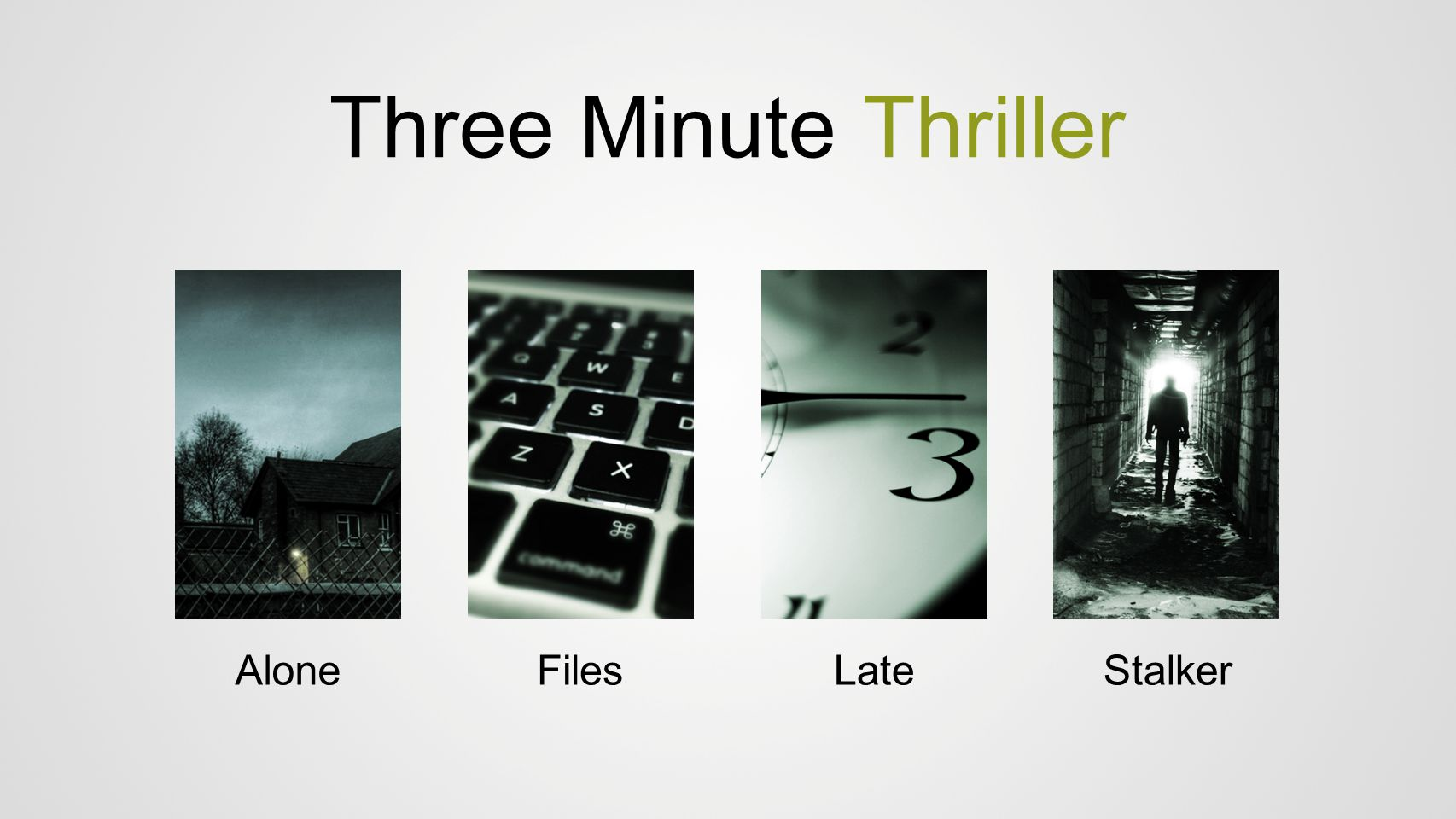 Three Minute Thriller Alone Files Late Stalker
