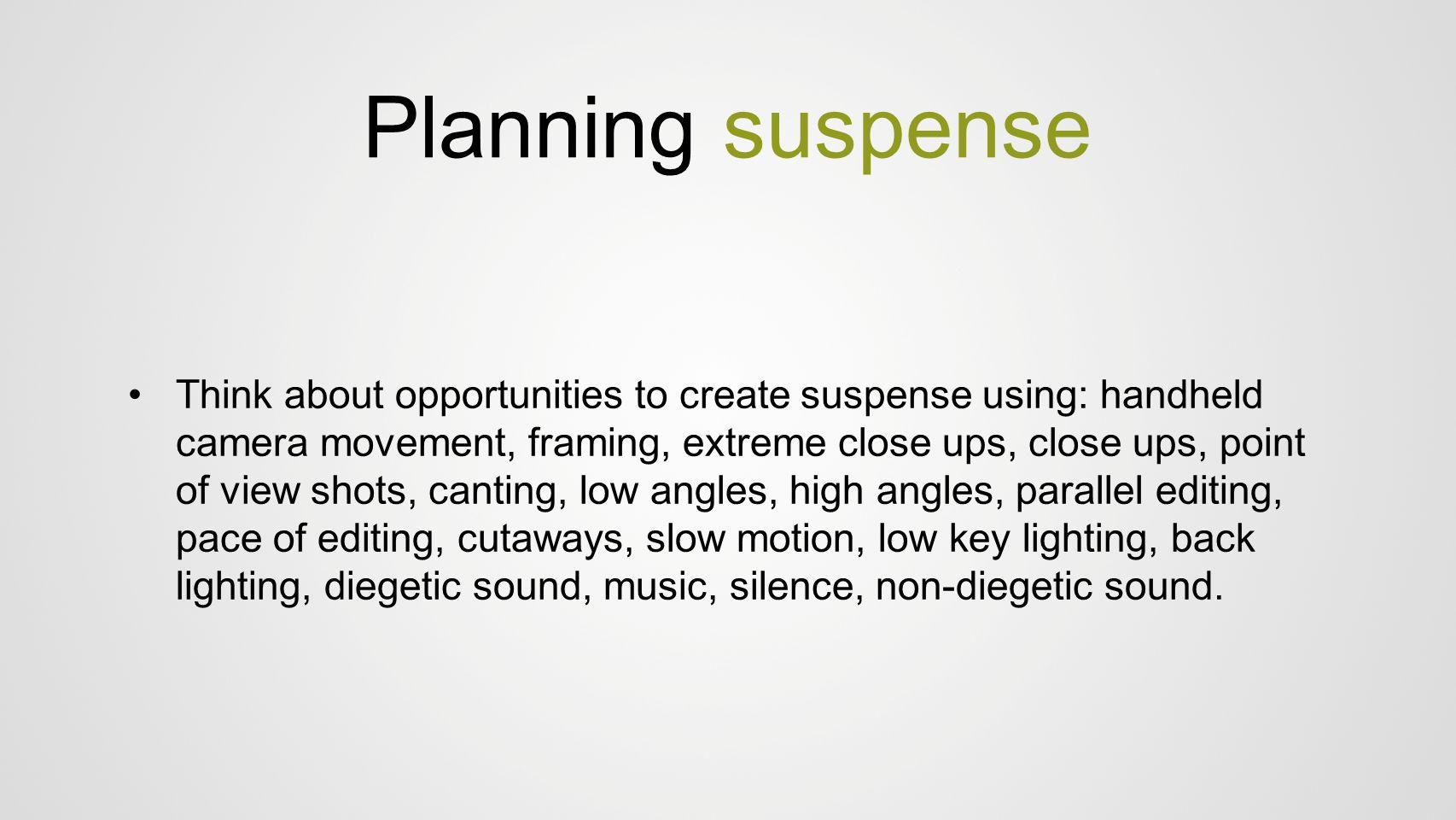 Planning suspense