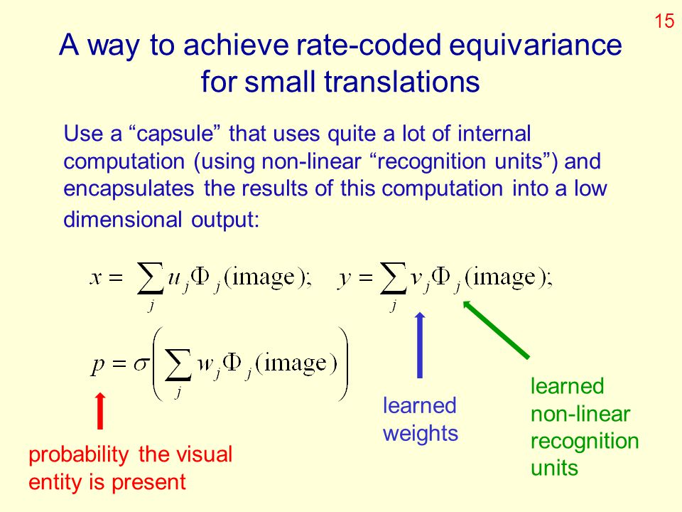 A way to achieve rate-coded equivariance for small translations