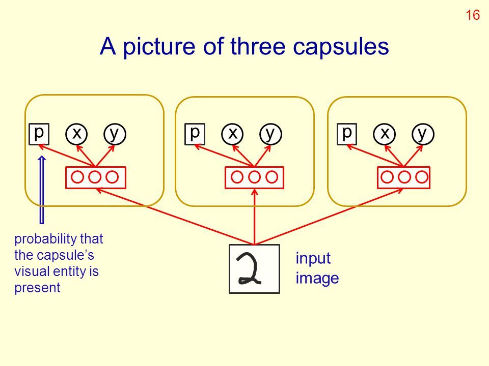 A picture of three capsules