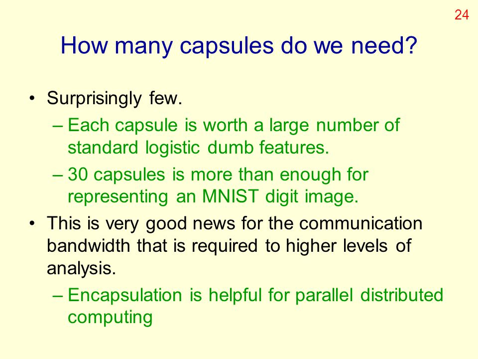 How many capsules do we need