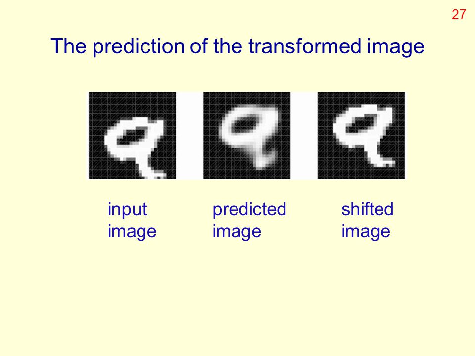 The prediction of the transformed image
