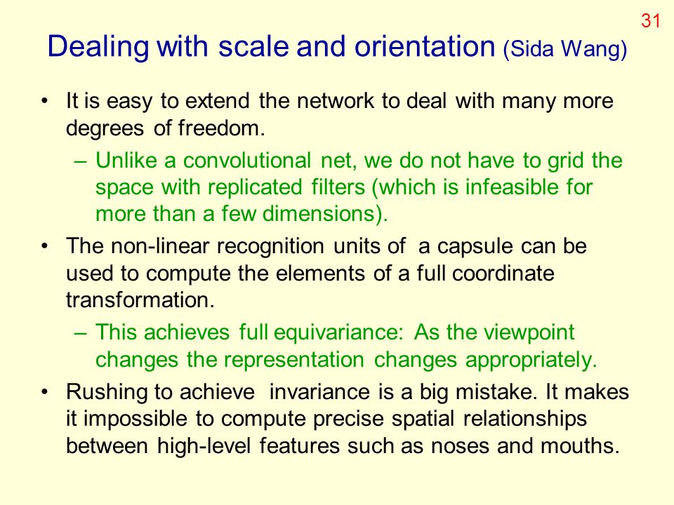 Dealing with scale and orientation (Sida Wang)