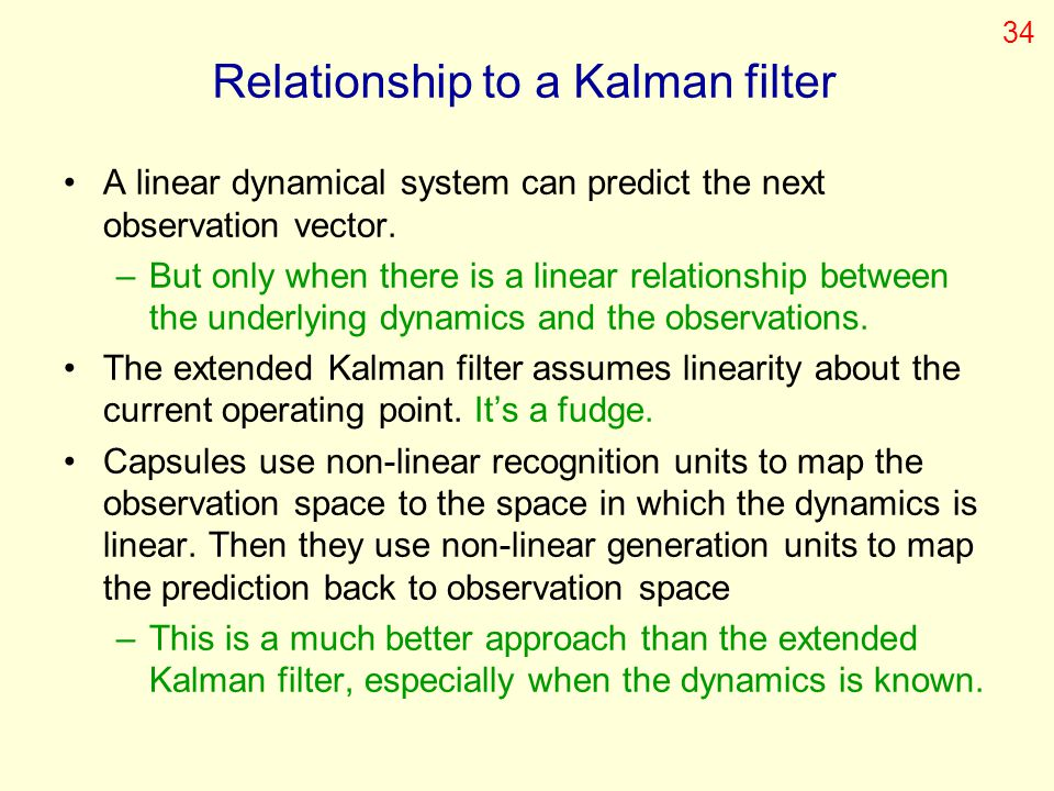 Relationship to a Kalman filter